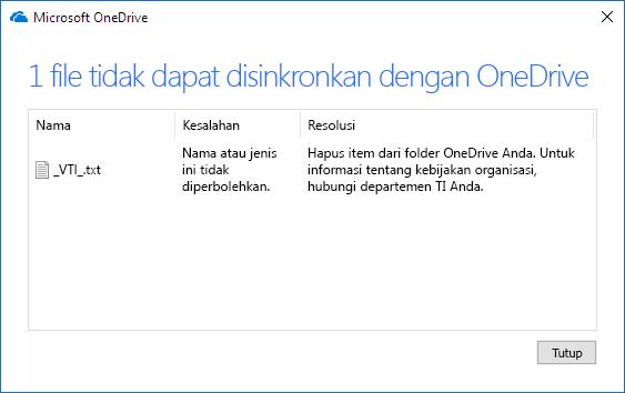 file onedrive tidak dapat disinkronkan