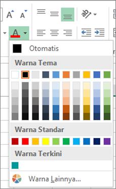 Pemilih warna font