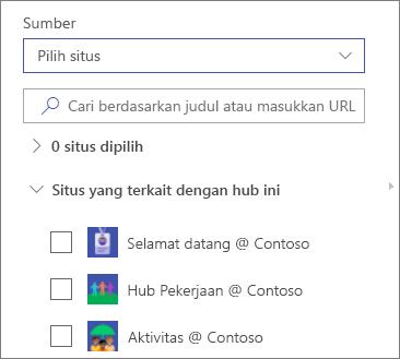 Pilih situs