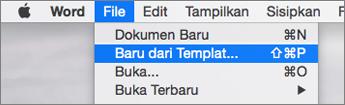 Pada File menu, klik baru dari Templat.