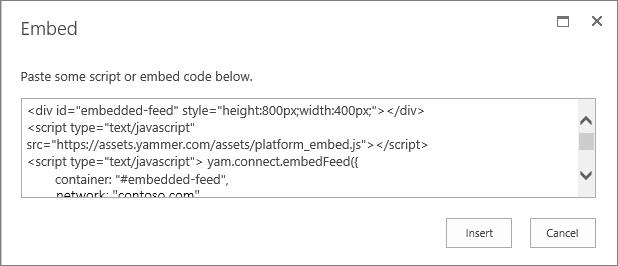 Menempelkan skrip ke dalam komponen web Skrip