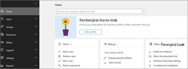 Pusat admin Office 365