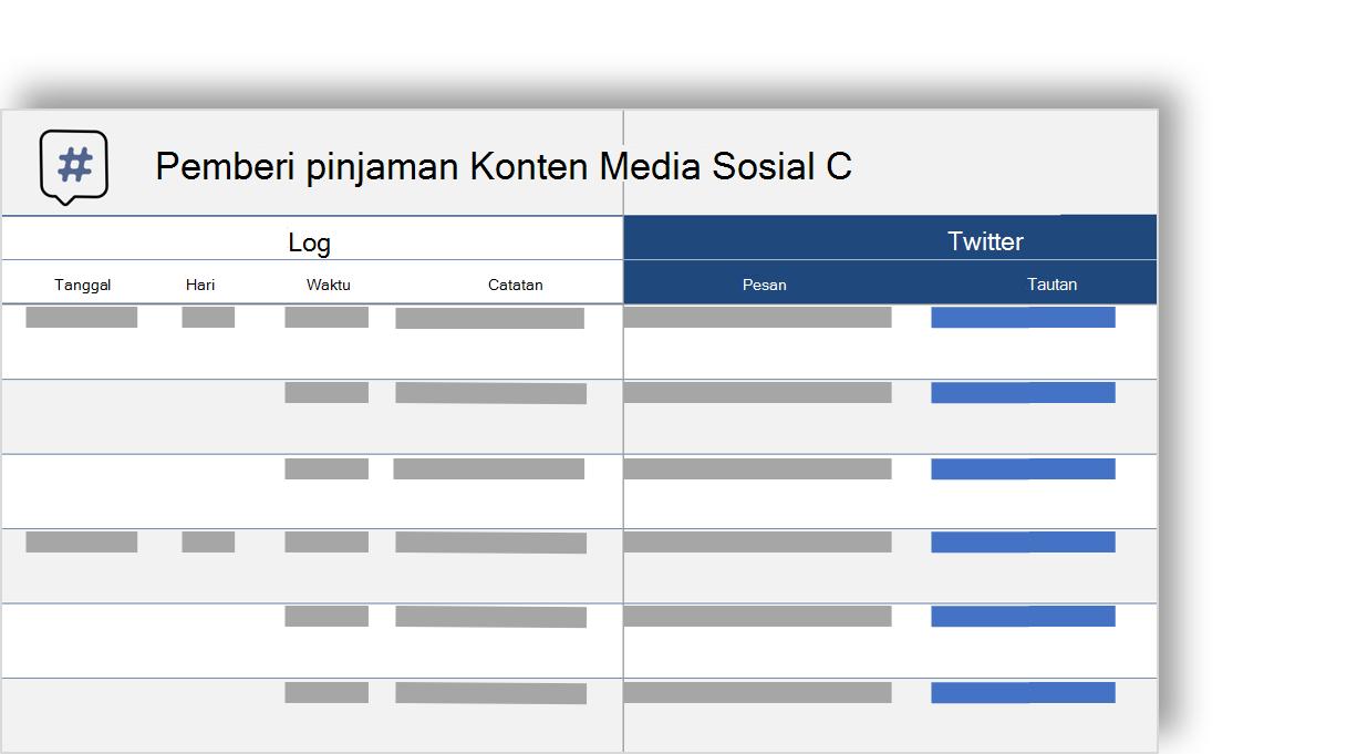 gambar konseptual kalender konten media sosial