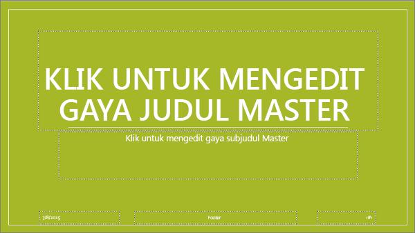 tata letak master slide di powerpoint