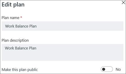 Cuplikan layar kotak dialog paket Edit memperlihatkan membuat kontrol publik paket ini.