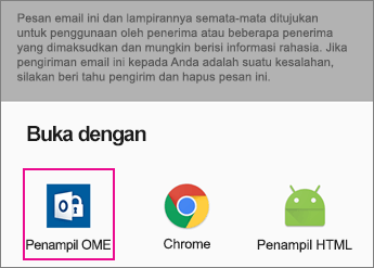 OME Viewer dengan Gmail di Android 2