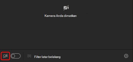 Pilih ikon kamera untuk mengaktifkan kamera