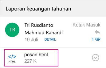 OME Viewer dengan Outlook untuk Android 1