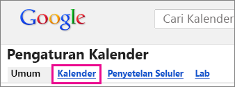 kalender google - klik Kalender