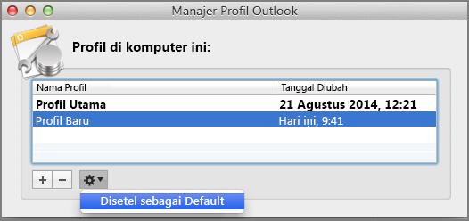 Mengatur profil default