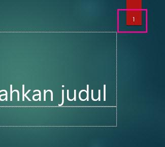 Tema Ion dengan nomor slide