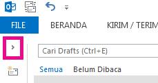 Membuka daftar folder dengan mengklik panah.