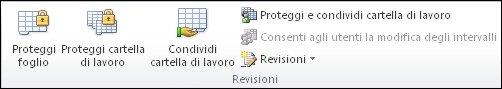 Gruppo Revisioni nella scheda Revisione