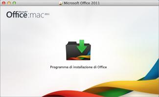 Icona di installazione di Office per Mac