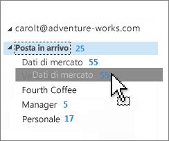 Personalizzare la posta in arrivo