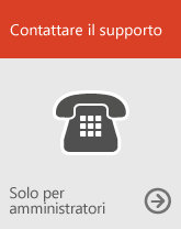 Contattare il supporto (solo per amministratori)