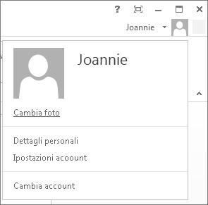 Accesso eseguito a un account personale
