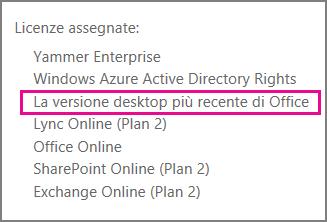 Ultima versione desktop di Office