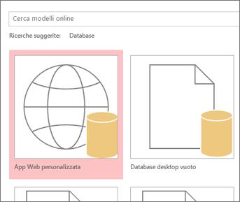 Pulsante App Web personalizzata nella schermata iniziale.