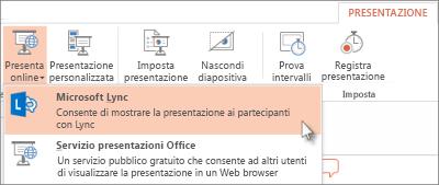 Presentazione online con Lync