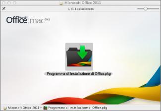 Fare clic su Programma di installazione di Office