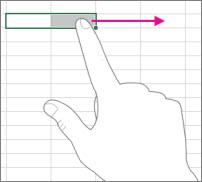 Far scorrere un dito attraverso lo schermo