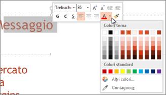 Modifica del colore del testo
