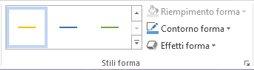 gruppo stili forma della scheda formato in strumenti smartart