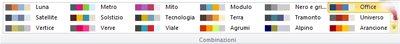 Altre combinazioni di colori in Publisher 2010