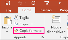 Pulsante Copia formato in PowerPoint