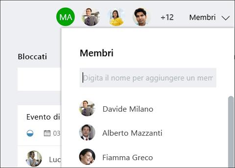 Cattura di schermata: con Mentre si digita il nome del guest, pianificazione identifica guest.
