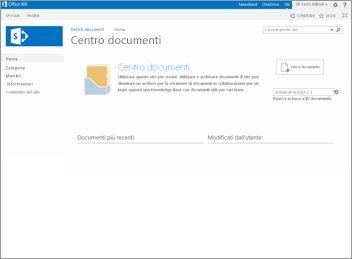 modello sito centro documenti