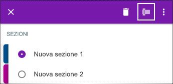 Rinomina sezione in OneNote per Android