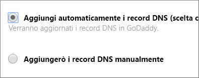 Aggiungi automaticamente i record