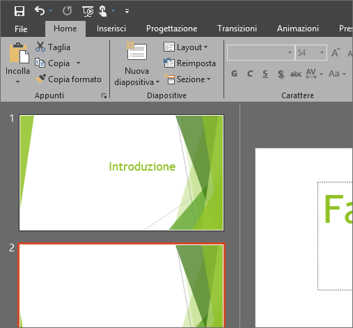 Tema Nero in PowerPoint 2016 per Windows