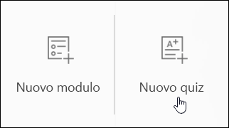Creare un nuovo modulo di tipo test