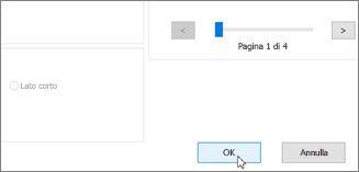 Fare clic su OK per stampare