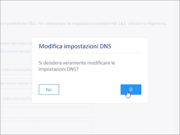 Fare clic su Salva nella finestra di dialogo Modifica impostazioni DNS