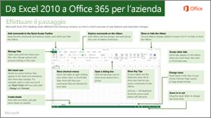 Anteprima della guida per il passaggio da Excel 2010 a Office 365