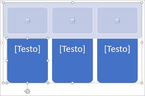 Elemento grafico SmartArt con segnaposto per immagini