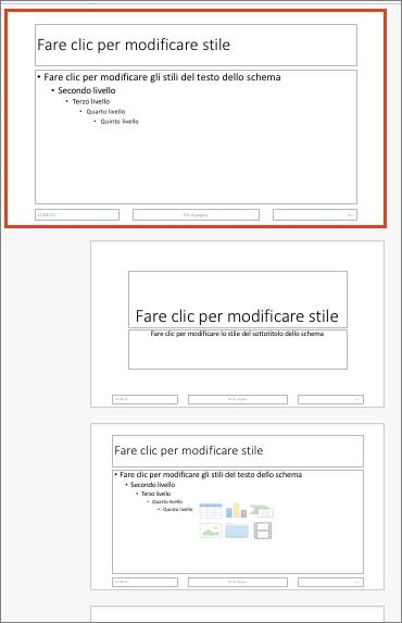 Effetti di animazione personalizzati di SmartArt: Elenco caselle verticale