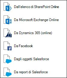Recuperare dati da servizi Online