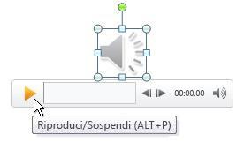 riproduzione della clip audio