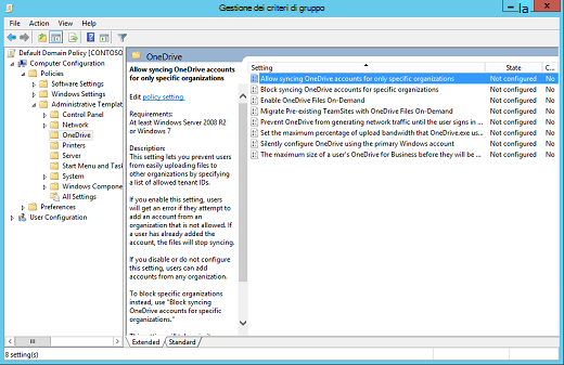 Criteri di configurazione del computer nell'Editor gestione dei criteri di gruppo