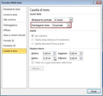 Rotazione del testo nella grafica smartart supporto di office - Testo a finestra ...