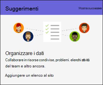 Suggerimenti per l'utilizzo di SharePoint Online sito