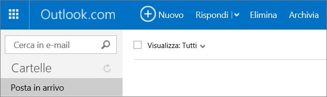 Immagine della barra multifunzione di Outlook.com