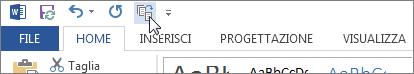 Pulsante Riduci a una pagina nella barra di accesso rapido