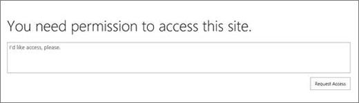 Finestra di dialogo di accesso negato a SharePoint Online.