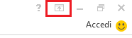 L'icona Opzioni è nell'angolo superiore destro della barra multifunzione.